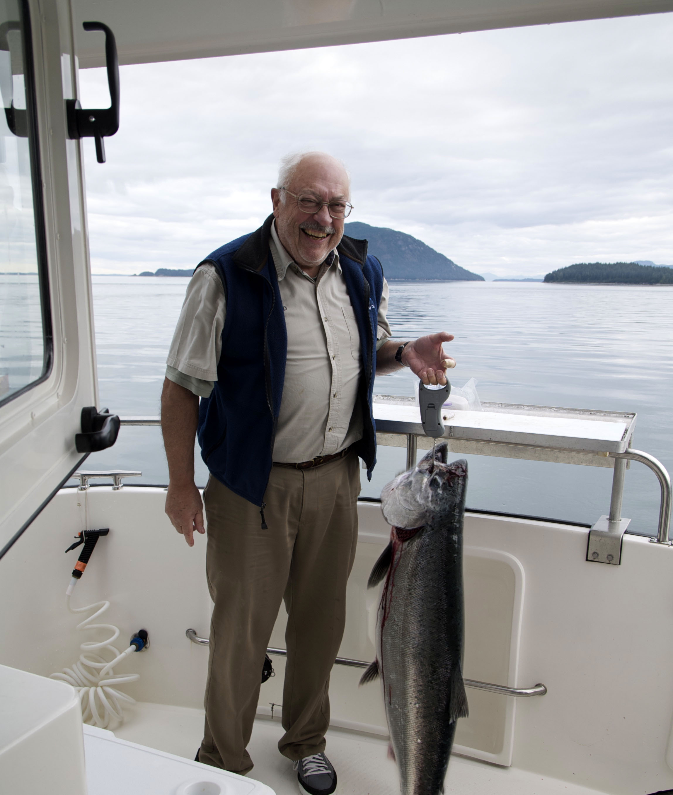 A good sized king salmon