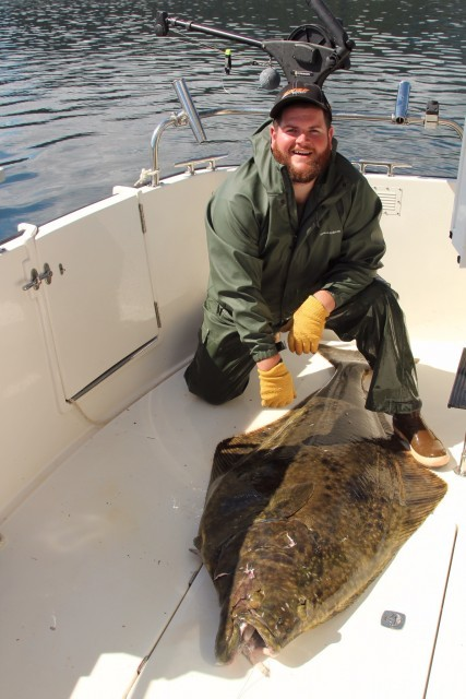 Marcus and his 220 lb. Halibut