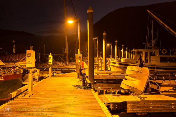Petersburg Docks at Night